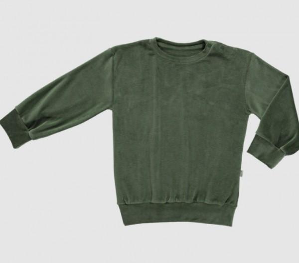 Poudre Organic Sweatshirt Cassandre, Velours Forest Green