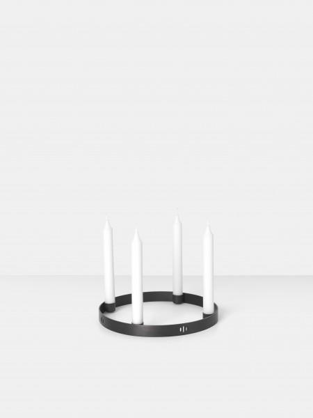 Ferm LIVING Kerzenhalter Circle, Schwarz, klein
