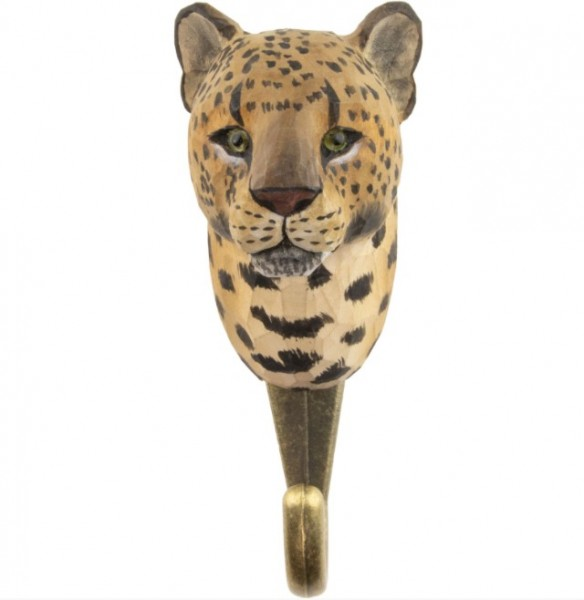 Handgeschnitzter Haken Leopard