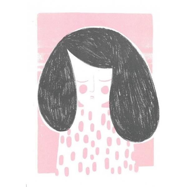 Marta Abad Blay Print sad Girl