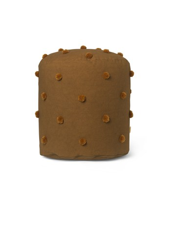 Ferm Living Dot tufted Pouf, Sugar Kelp/ Mustard