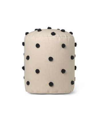 Ferm Living Dot tufted Pouf, Sand black