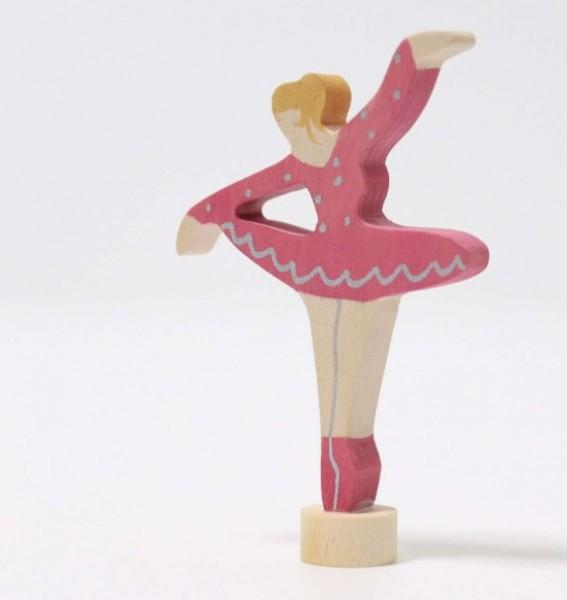 Grimms,Steckfigur Ballerina Rubinrot