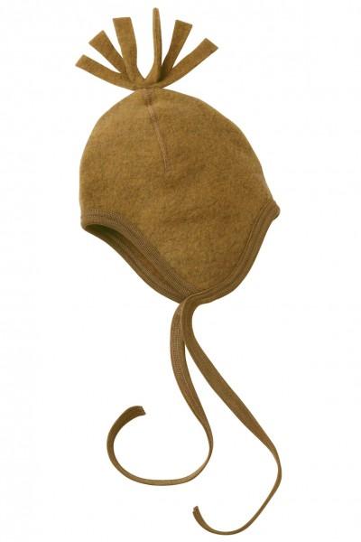 Engel Natur Woll-Fleecemütze, senf