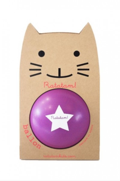 Ratatam Katze Ball Lilla, medium