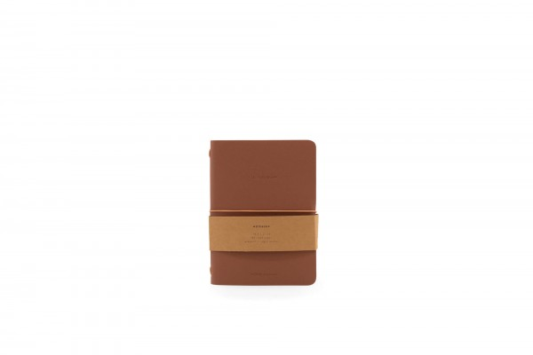 Monk&Anna HVegan Leather Notebook, Chestnut