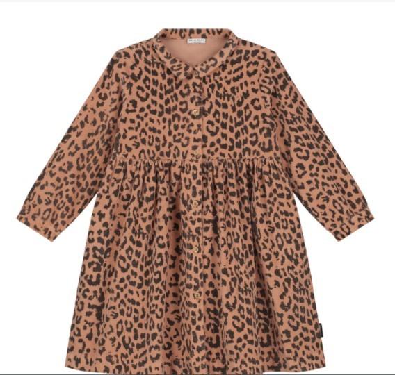 Daily Brat Kleid Cordkleid Brooke, Leopard Hazel