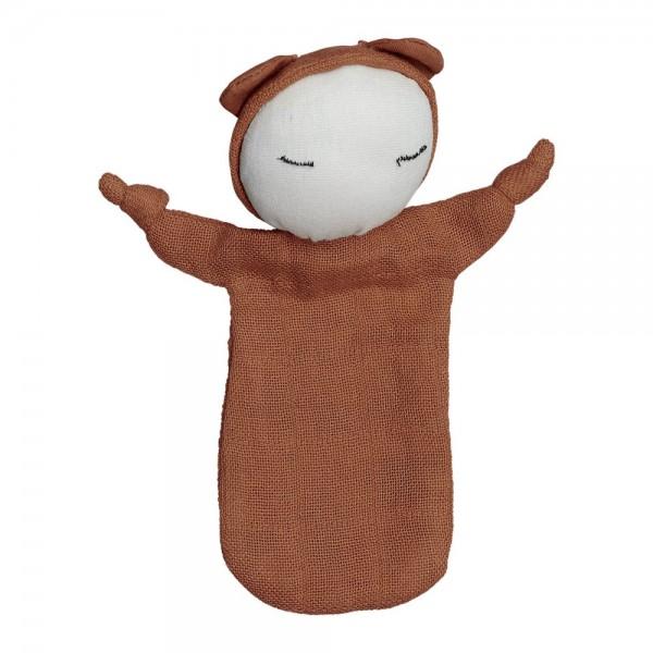 """Fabelab Schnuffeltuch """"Cuddle Doll"""", cinnamon"""