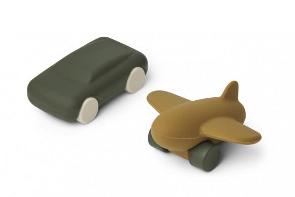 Liewood Auto & Flugzeug Kevin, Hunter green/Olive green mix