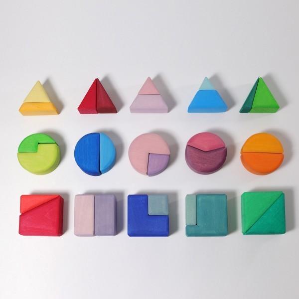 Grimms Bauspiel Dreieck Viereck Kreis