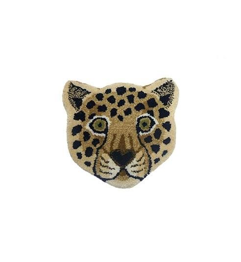 Looney Leopard Fußteppich, Beige