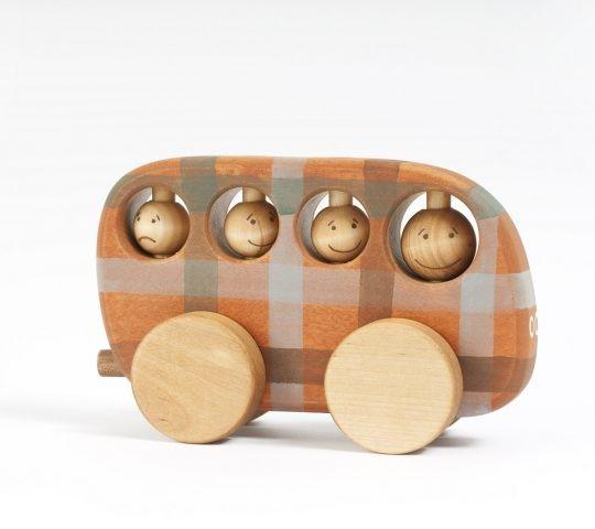 Holz Bus, karriert